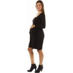 24/7 Comfort Apparel Women's This Just In: The Must Have Maternity Midi Dress for Fall found on Bargain Bro Philippines from Overstock for $22.22