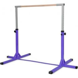 Costway Adjustable Gymnastics Horizontal Bar for Kids-Purple found on Bargain Bro India from Costway for $159.95
