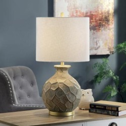 Portsmouth Round Molded Textured Gold Vase Table Lamp found on Bargain Bro Philippines from LAMPS PLUS for $159.99