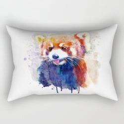 Rectangular Pillow   Red Panda Portrait by Marianvoicu - Small (17