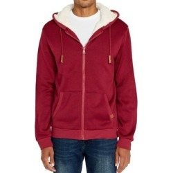 Buffalo David Bitton Mens Hoodie Red Size Small S Full Zip Sherpa-Lined (S), Men's(polyester) found on MODAPINS from Overstock for USD $48.98