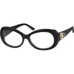 Zenni Women's Oval Prescription Glasses Black Plastic Frame found on Bargain Bro India from Zenni Optical for $35.95