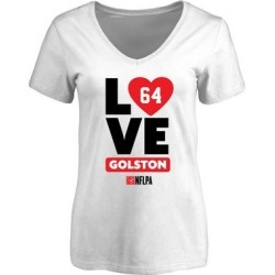 Kedric Golston Fanatics Branded Women's I Heart V-Neck T-Shirt - White found on Bargain Bro from Fanatics for USD $18.96