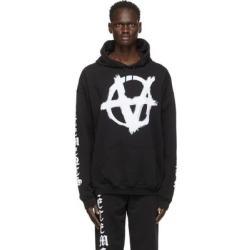 Black Anarchy Gothic Logo Hoodie - Black - Vetements Sweats