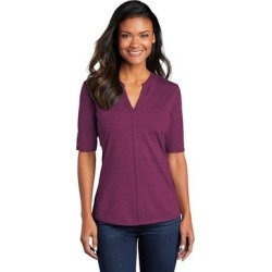 Port Authority Ladies Stretch Heather Open Neck Top found on Bargain Bro Philippines from Overstock for $27.89