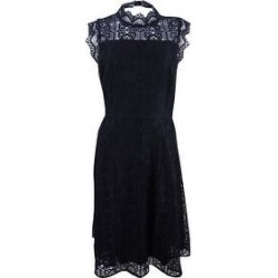 Calvin Klein Women's Lace Cutout Fit & Flare Dress (Black - 12) found on Bargain Bro from Overstock for USD $60.79