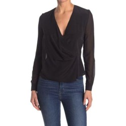 Nile Long Sleeve Silk Blouse - Black - AllSaints Tops found on Bargain Bro Philippines from lyst.com for $55.00