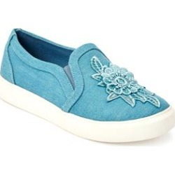Extra Wide Width Women's The Skyla Sneaker by Comfortview in Light Denim (Size 11 WW) found on Bargain Bro Philippines from Ellos for $65.99