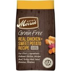 Merrick Real Chicken + Sweet Potato Recipe Grain-Free Adult Dry Dog Food, 4-lb bag
