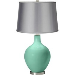 Larchmere - Satin Light Gray Shade Ovo Table Lamp found on Bargain Bro from LAMPS PLUS for USD $121.58