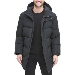 DKNY Mens Jackets Black Size XL Puffer Hooded Water-Resistant Solid (XL), Men's(polyester) found on Bargain Bro Philippines from Overstock for $150.98