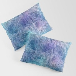Colorful Cool Tones Blue Purple Abstract King Size Pillow Sham by Sara Valor - STANDARD SET OF 2 - Cotton found on Bargain Bro from Society6 for USD $30.39