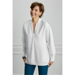 Women Everyday Shirt by Soft Surroundings, in White size 3X (24)