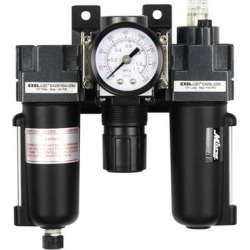 EXELAIR by Milton Filter-Regulator-Lubricator, Mini Metal Bowl, Max. PSI 145 PSI, CFM 20 cfm, MInch Temperature 25 °F, Model EX25FRL40A-02M found on Bargain Bro from northerntool.com for USD $108.14