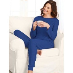 Women's Sweater Knit Pajamas, Royal Blue S Misses found on Bargain Bro from Blair.com for USD $22.79