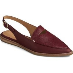 Sperry Top-Sider Women's Loafers CORDOVAN - Burgundy Saybrook Leather Slingback - Women found on Bargain Bro from zulily.com for USD $44.07