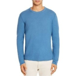 John Varvatos Mens Blue Long Sleeve Crew Neck Shirt S (Blue - S), Men's(Cotton, Solid) found on Bargain Bro from Overstock for USD $30.08