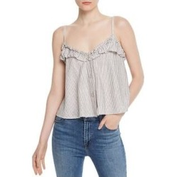 French Connection Womens Laiche Tank Top Striped Cropped - White/Dove (L), Women's(cotton) found on MODAPINS from Overstock for USD $16.29