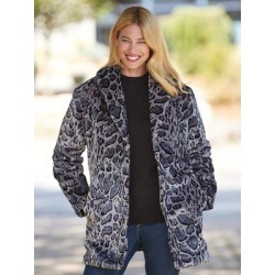 Haband Womens Faux-Fur Coat, Multi, Size Womens, 3X found on Bargain Bro Philippines from Haband for $36.99