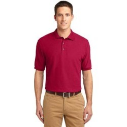 Port Authority K500ES Extended Size Silk Touch Polo Shirt in Red size 10XL   Cotton/Polyester Blend found on Bargain Bro from ShirtSpace for USD $30.13