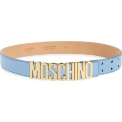 Logo Leather Belt - Purple - Moschino Belts found on Bargain Bro from lyst.com for USD $239.40