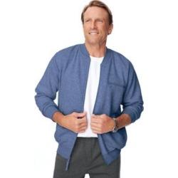 Men's John Blair® Four-Season Fleece Baseball Jacket, Blue Heather L found on Bargain Bro Philippines from Blair.com for $27.99
