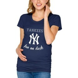 New York Yankees Soft as a Grape Women's Maternity Side Ruched T-Shirt - Navy found on Bargain Bro India from Fanatics for $40.99