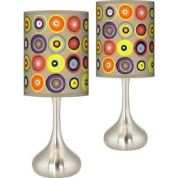 Marbles in the Park Giclee Droplet Table Lamps Set of 2 found on Bargain Bro Philippines from LAMPS PLUS for $179.98
