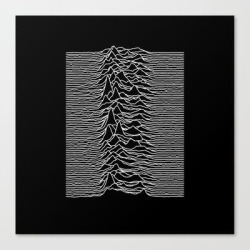Canvas Print   Joy Division - Unknown Pleasures by Hein - LARGE - Society6