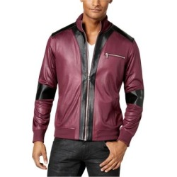 I-N-C Mens Faux Leather Trim Jacket found on Bargain Bro Philippines from Overstock for $44.02