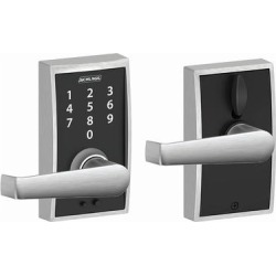 Schlage FE695-CEN-ELA Century Touch Entry Leverset with Elan Lever - Satin Chrome (Satin Chrome), Grey found on Bargain Bro Philippines from Overstock for $130.14