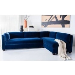 Safavieh Couture Bianchi Sectional Sofa (Navy), Blue found on Bargain Bro from Overstock for USD $2,100.25