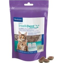 C.E.T. IntelliDent Bites Crunchy Cat Treats, 90 count found on Bargain Bro from Chewy.com for USD $6.07