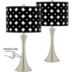 Crossroads Trish Brushed Nickel Touch Table Lamps Set of 2 found on Bargain Bro India from LAMPS PLUS for $149.99