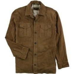 Tasso Elba Mens Suede Bomber Jacket, Brown, Small (Brown - Small), Men's found on Bargain Bro India from Overstock for $285.11
