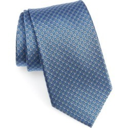 Men's Shop Geometric Silk Tie - Blue - Nordstrom Ties found on Bargain Bro India from lyst.com for $80.00