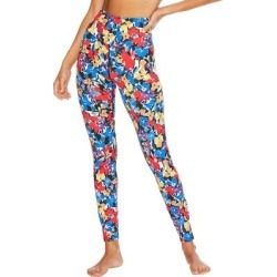 Piper Floral Print High Waist Leggings - Blue - Beach Riot Pants found on MODAPINS from lyst.com for USD $108.00