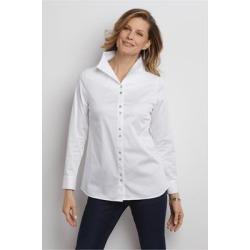 Women Andana Shirt by Soft Surroundings, in White size 1X (18-20)
