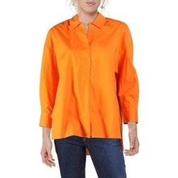 French Connection Womens Aoko Rhodes Top Popover Hi-Low (Jaffa Orange - L), Women's(cotton) found on MODAPINS from Overstock for USD $17.49