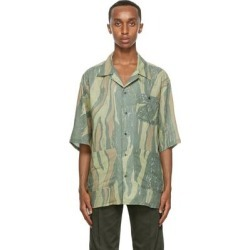 Green Aloha Short Sleeve Shirt - Green - Nicholas Daley Shirts found on MODAPINS from lyst.com for USD $755.00