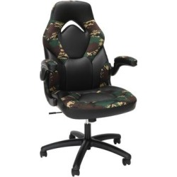 OFM Essentials Collection Racing Style Bonded Leather Gaming Chair in Forest Camo - OFM ESS-3085-FST found on Bargain Bro Philippines from totally furniture for $151.97