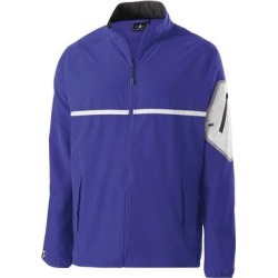 Holloway 229543 Weld 4-Way Stretch Warm-Up Jacket in Purple/White size 2XL | Polyester/Spandex Blend found on Bargain Bro Philippines from ShirtSpace for $61.66