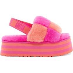 UGG Disco Check Genuine Shearling Slingback Platform Slipper - Pink - Ugg Flats found on Bargain Bro from lyst.com for USD $83.60