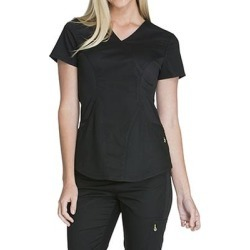 Cherokee Medical Uniforms LUXE SPORT-Mock Wrap Top (Size 3X) Black, Polyester,Rayon,Spandex found on Bargain Bro Philippines from ShoeMall.com for $31.99