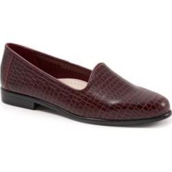 Extra Wide Width Women's Liz Croco Slip On by Trotters in Wine Croco (Size 10 1/2 WW) found on Bargain Bro India from Woman Within for $104.99