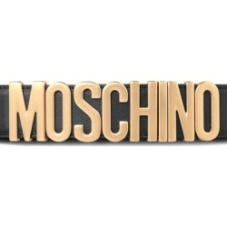 Logo Leather Belt - Black - Moschino Belts found on Bargain Bro from lyst.com for USD $197.60