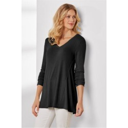 Women's Favorite Weekend Top by Soft Surroundings, in Black size XS (2-4)