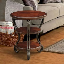 Furniture of America Raiz Traditional Cherry Side Table (Brown Cherry) found on Bargain Bro Philippines from Overstock for $148.49