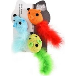 Easy Kitty Neon Mice Cat Toys, 9 count