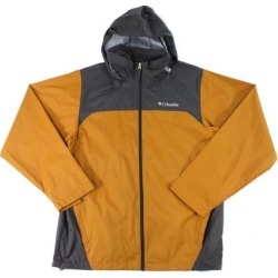 Columbia Mens Glennaker Lake Rain Jacket Ochre Brown Size 2XL Zip Hooded (2XL), Men's(nylon) found on MODAPINS from Overstock for USD $51.98